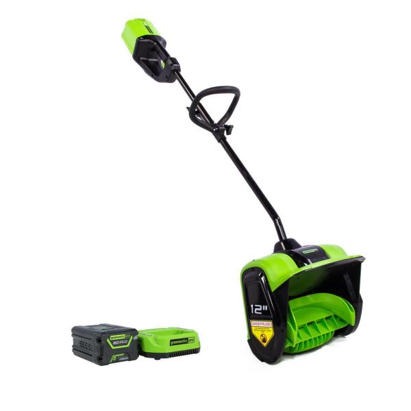 PRO 12 in. 60-Volt Battery Cordless Single-Stage Snow Shovel with 2.0 Ah Battery and Charger SS60L210