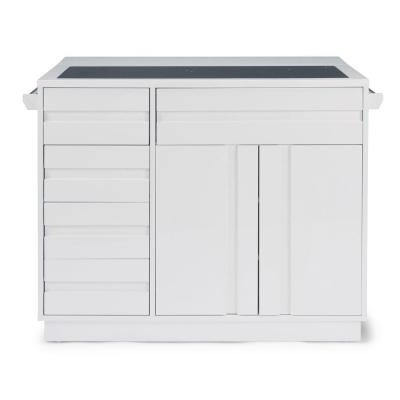 Best Erlinear White Kitchen Island And 2 Bar Stools