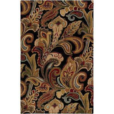 Verona Black 3 ft. x 5 ft. Area Rug