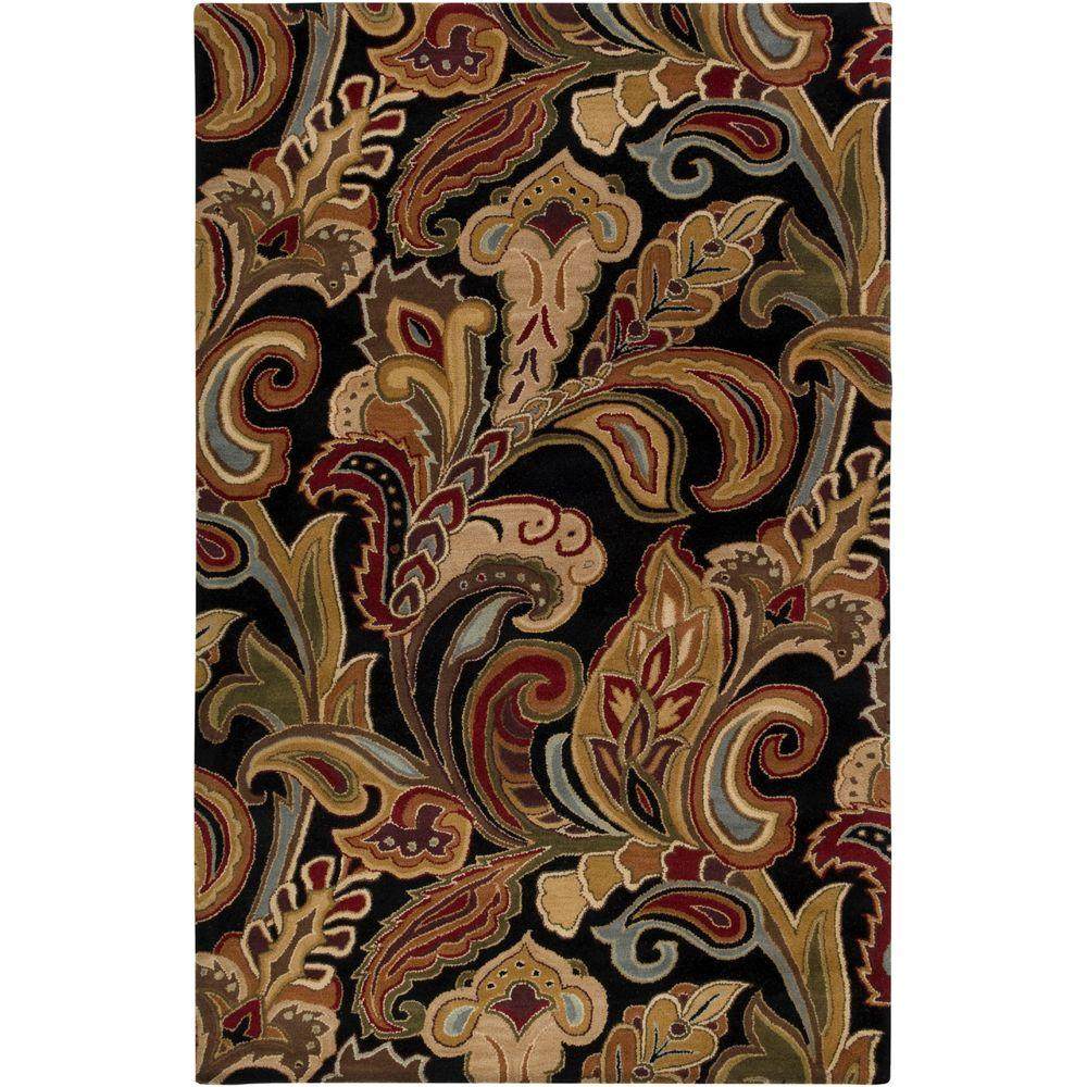 Artistic Weavers Verona Black 8 Ft X 11 Ft Area Rug Verona 811