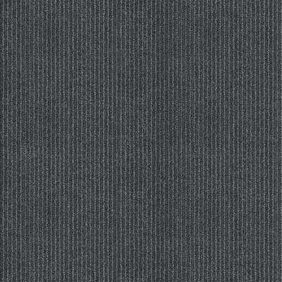 Willingham Charcoal Pattern 18 in. x 18 in. Carpet Tile (16 Tiles/Case)