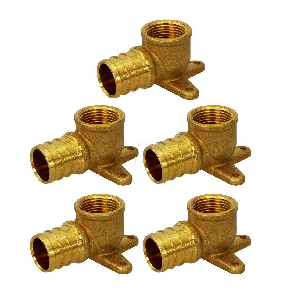 "3//4/"" PEX X 3//4/"" FEMALE NPT THREADED DROP EAR ELBOW CRIMP FITTINGS LEAD FREE 10"