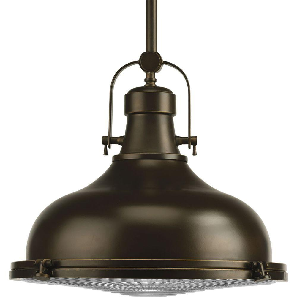 Fresnel Collection 1-Light Oil Rubbed Bronze Pendant