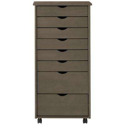 Stanton 8-Drawer Storage Cart in Antique Grey