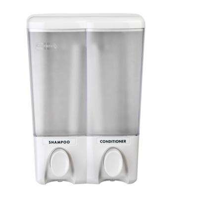 Clear Choice Double Dispenser in White