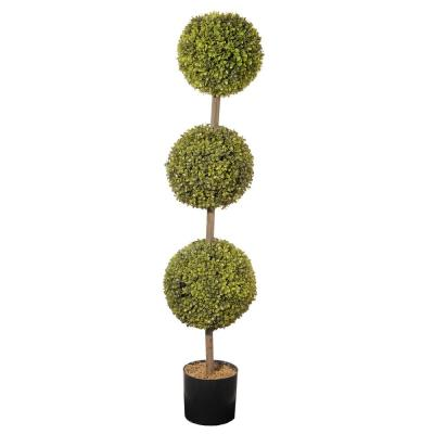 48 in. Boxwood 3-Ball Topiary