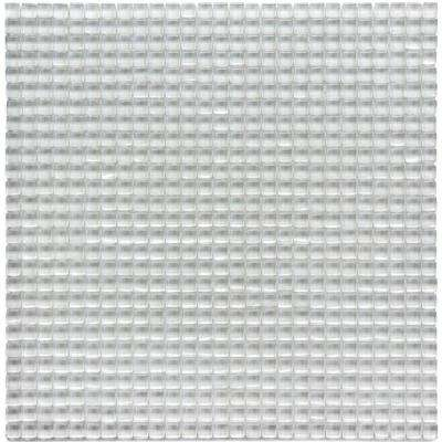 Atlantis Anemone White 11-3/4 in. x 11-3/4 in. x 6.35 mm Polished Glass Mosaic Wall Tile (9.58 sq. ft. / case)