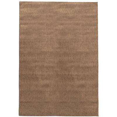 Summer Collection Solid Brown 5 ft. x 7 ft. Indoor/Outdoor Area Rug