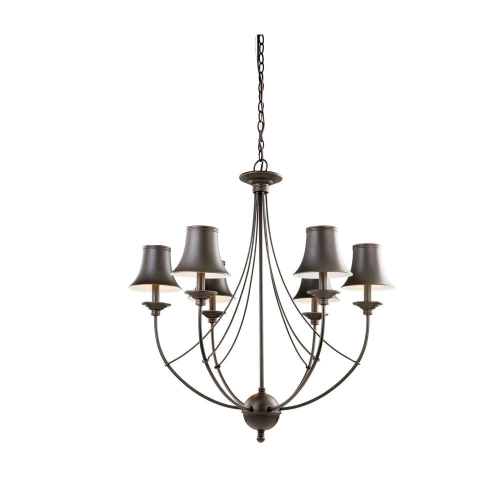 Hampton Bay Charleston 6 Light Oil Rubbed Bronze Chandelier With