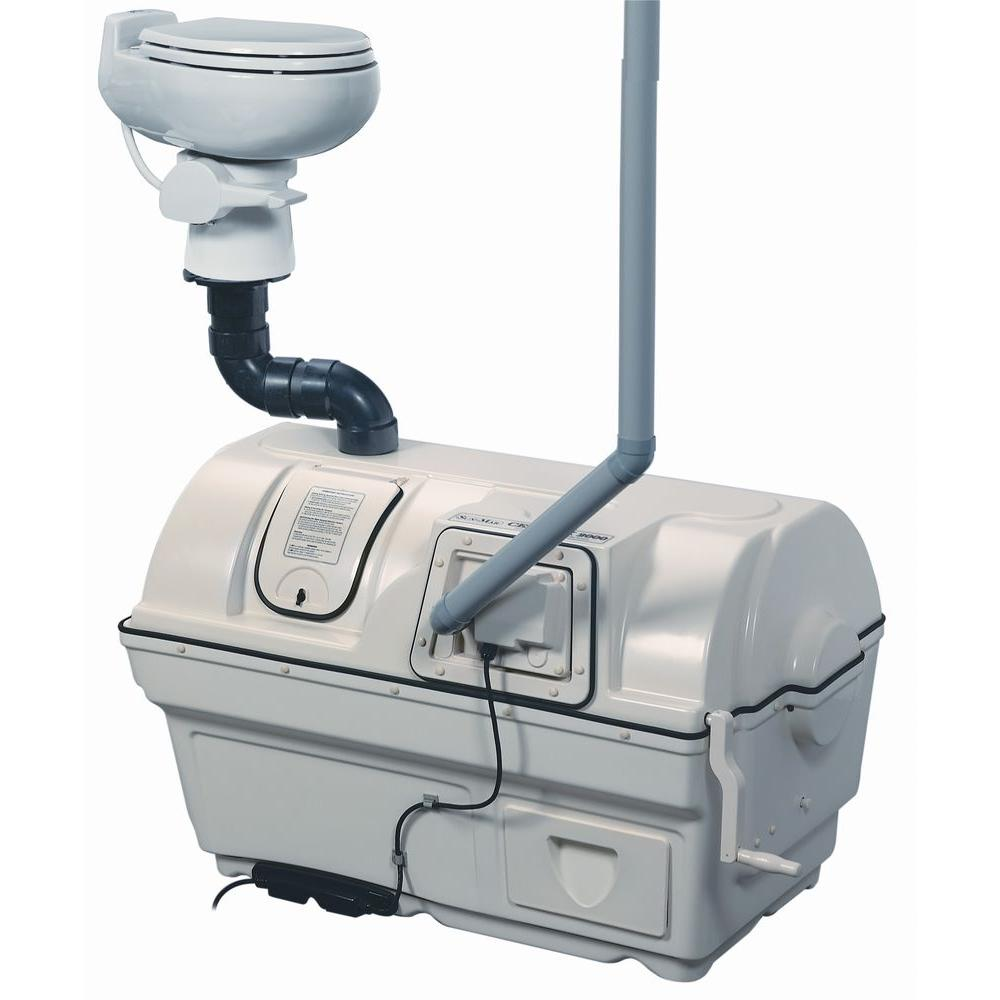 Sun-Mar Centrex 2000 Electric Waterless High Capacity Central Composting Toilet System in Bone