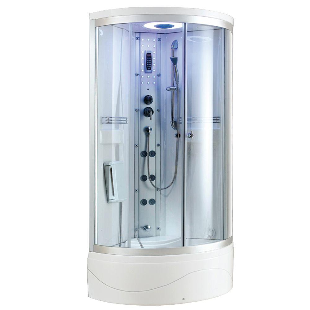 Ariel SS-902A 36 in. x 36 in. x 83 in. Steam Shower Enclosure Kit in ...