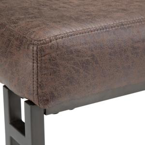 Pleasing Simpli Home Trey 48 In Ottoman Bench In Distressed Cocoa Dailytribune Chair Design For Home Dailytribuneorg