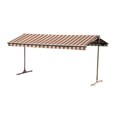 16 ft. Oasis Freestanding Motorized Retractable Awning (120 in. Projection) with Remote in Western Red