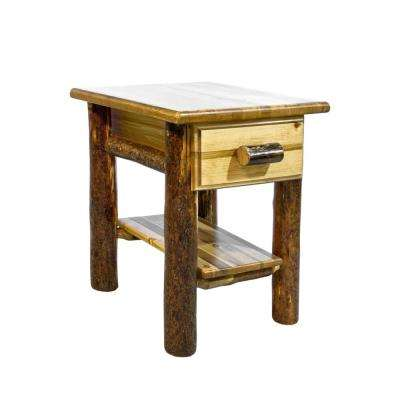 Glacier Country Collection 1-Drawer Stained and Lacquered Nightstand