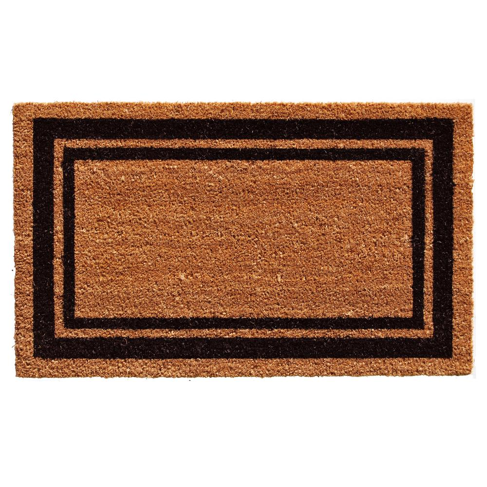 Black Border Door Mat 18 in. x 30 in.