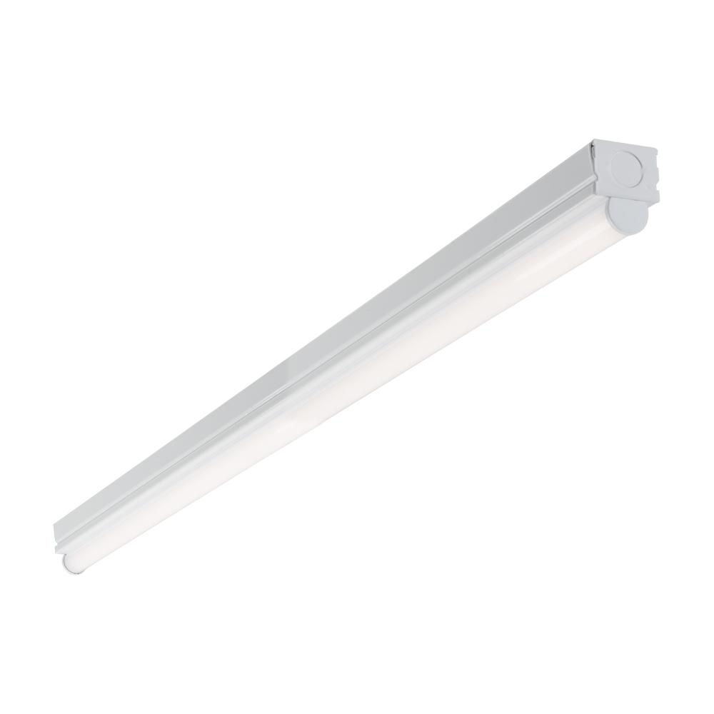 4 ft. 1-Light Linear White Integrated LED Ceiling Strip Light with