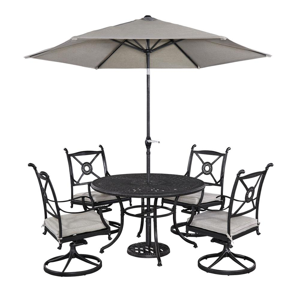 Home Styles Athens 5 Piece Patio Dining Set With Umbrella