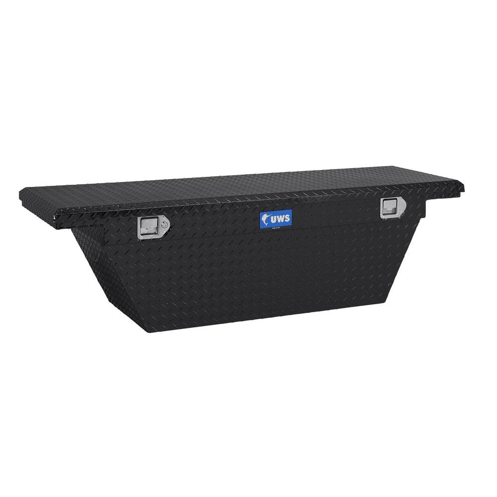 60 in. Aluminum Black Deep Angled Single Lid Crossover Tool Box