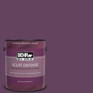 Behr Ultra 1 Gal Bic 36 Grape Fizz Extra Durable Eggshell Enamel Interior Paint And Primer In One 275301 The Home Depot