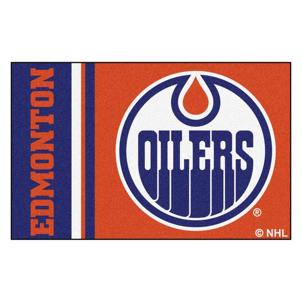 Fanmats Nhl Edmonton Oilers Orange 2 Ft X 3 Indoor Area Rug