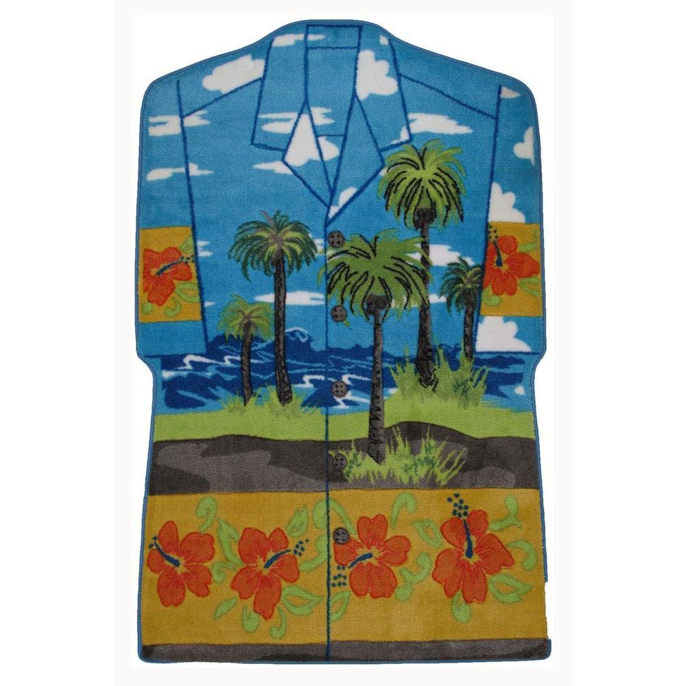 Hawaiian Style Area Rugs: LA Rug Supreme Hawaiian Shirt Multi Colored 39 In. X 58 In