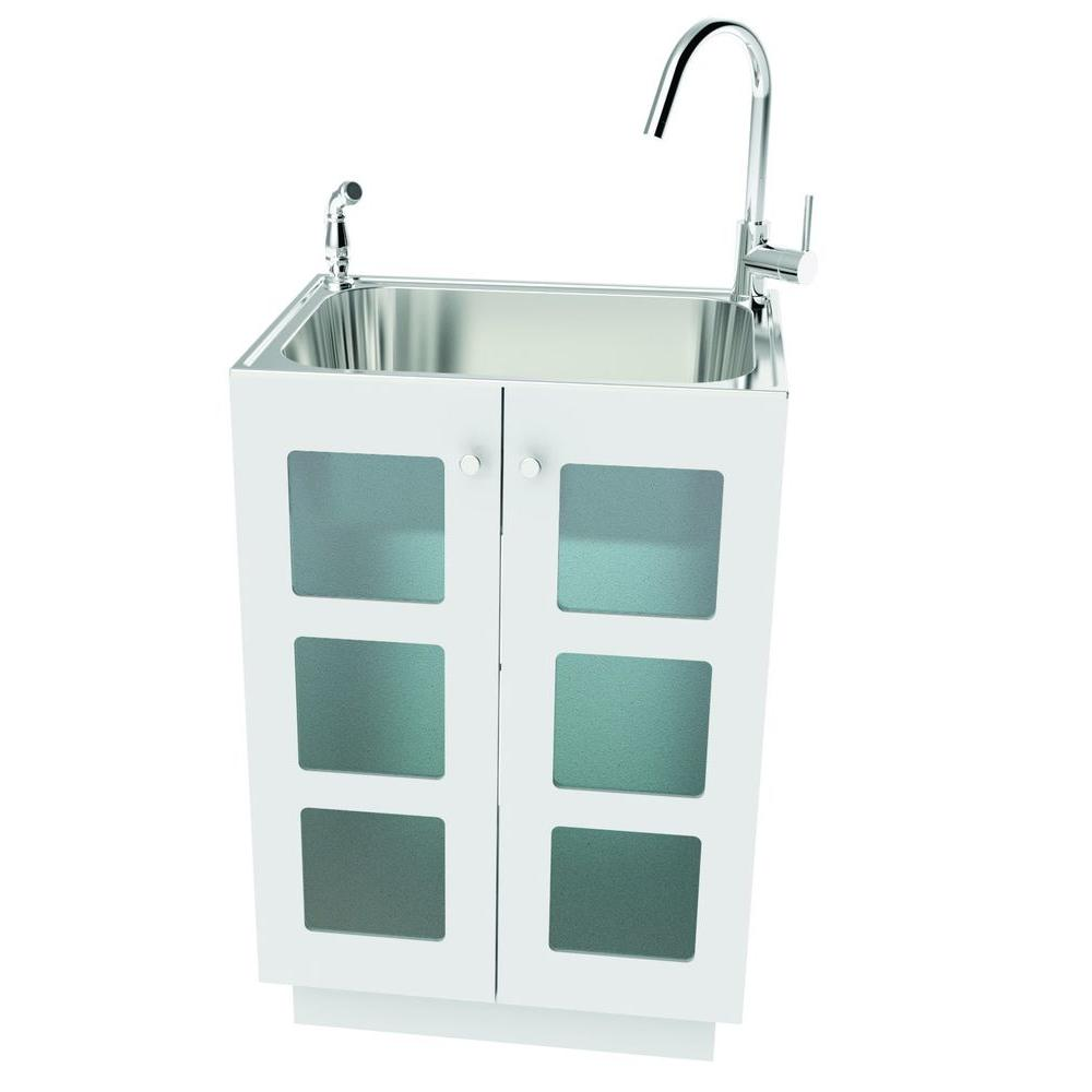 laundry sink cabinet renwil 24 in x 10 in x 36 in stainless steel laundry 22539