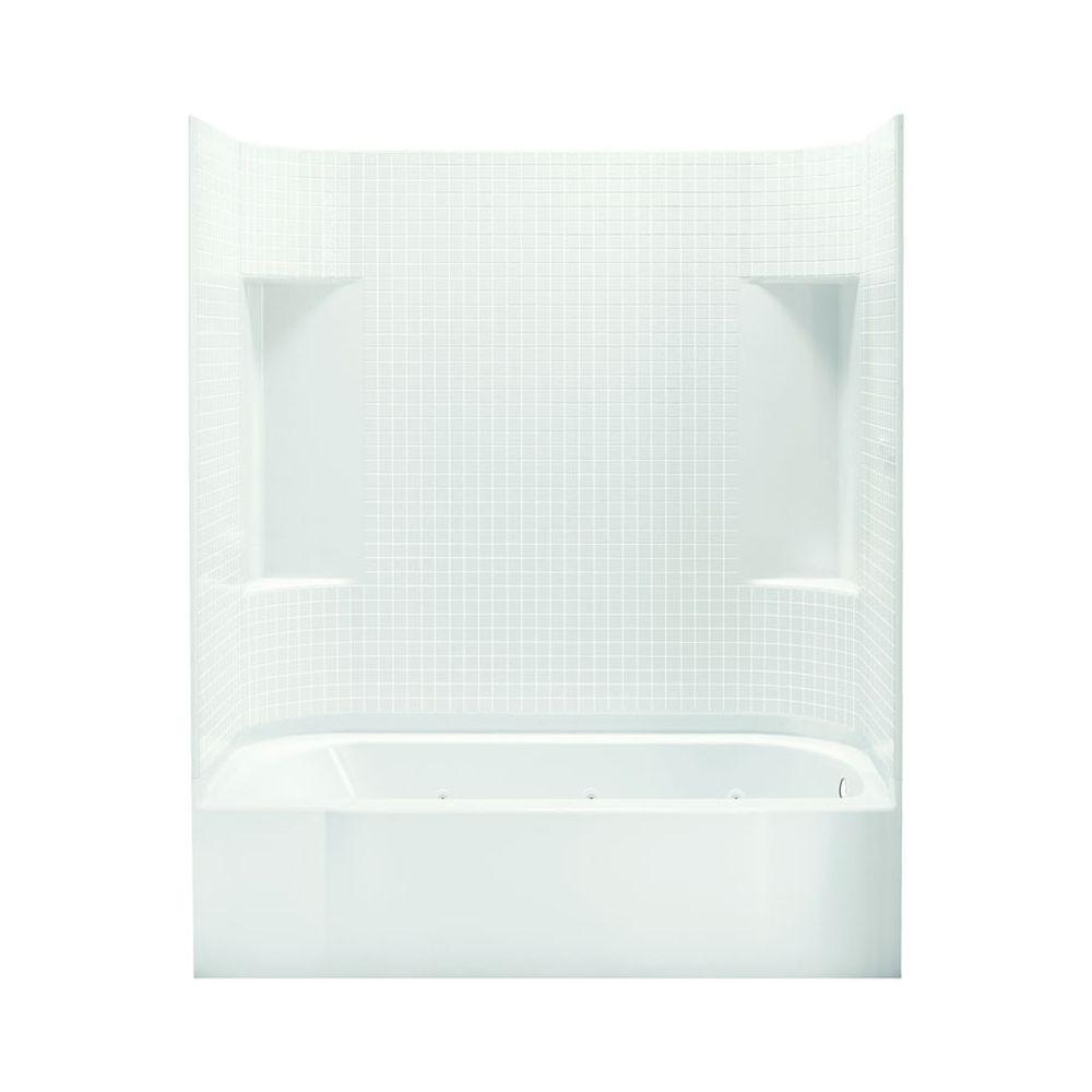 STERLING Accord 30 in. x 60 in. x 73-1/4 in. Bath and Shower Kit with Right-Hand Drain in White