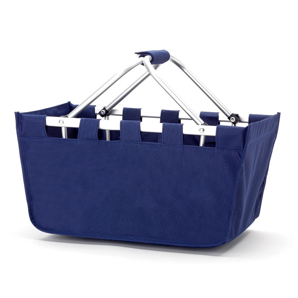 Navy Polyester Market Tote Bag