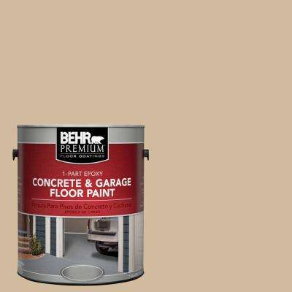 1 gal. #S280-3 Practical Tan 1-Part Epoxy Concrete and Garage Floor Paint