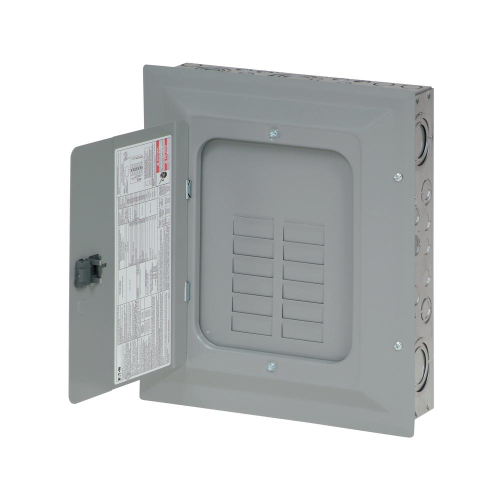 Eaton BR 125 Amp 12-Space 24-Circuit Outdoor Main Lug Loadcenter with Cover