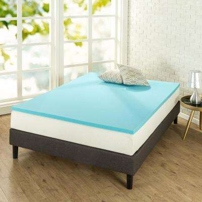 1.5 Gel Queen Memory Foam Topper