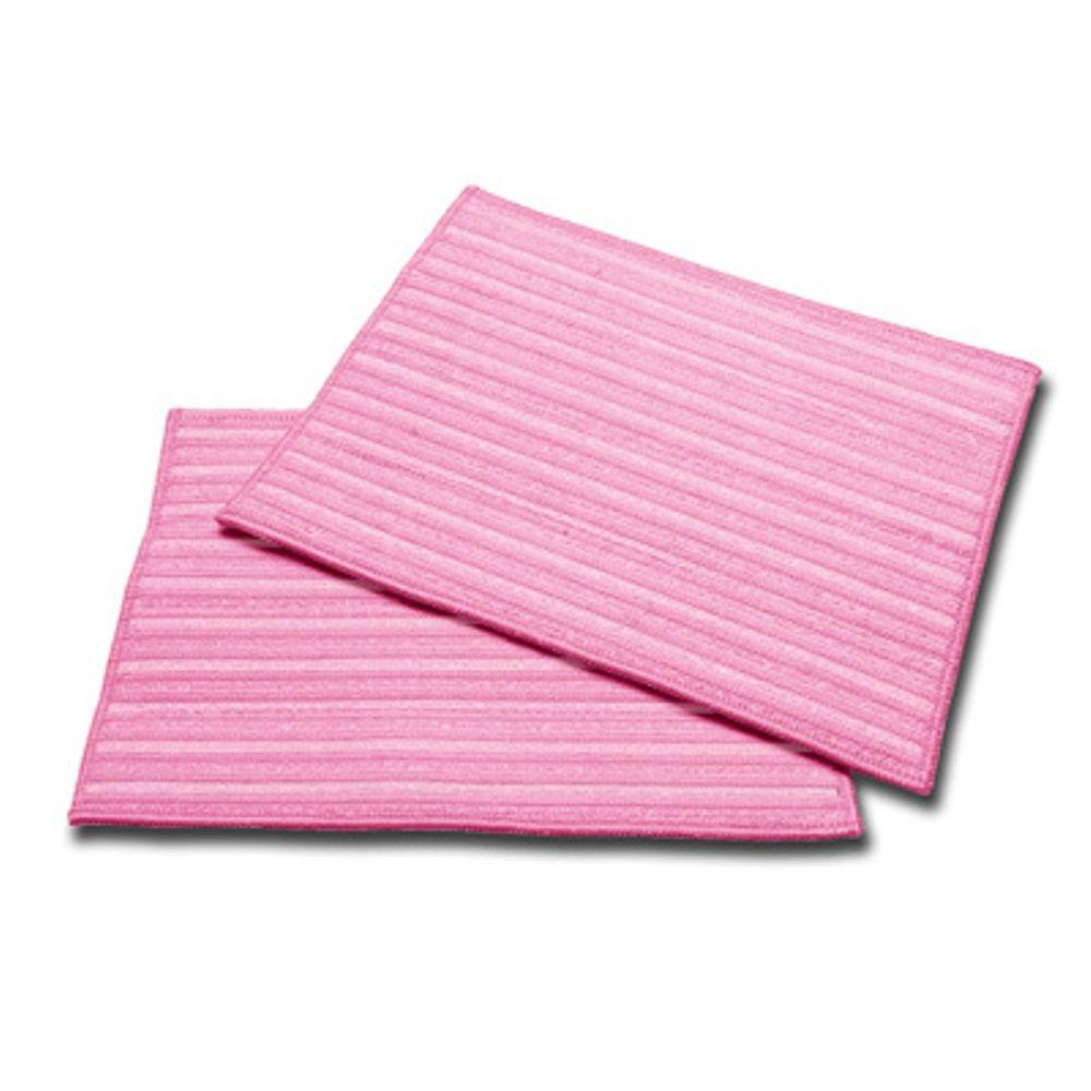 HAAN Ultra-Microfiber Cleaning Pads in Pink (2-Pack)