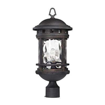 Costa Mesa 1-Light Weathered Charcoal Outdoor Post Lantern