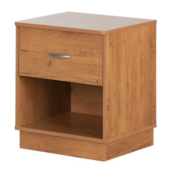 South Shore Logik 1-Drawer Country Pine Nightstand