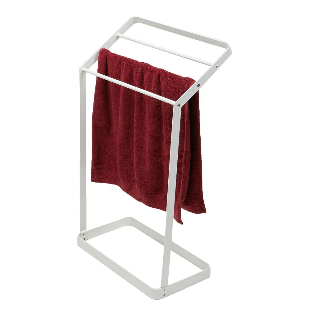 Mind Reader 20 in. W x 32.75 in. H White Metal 3-Tier Bath Towel Bar ...