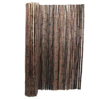 1 in. D x 4 ft. H x 8 ft. W Carbonized Rolled Bamboo Garden Fence