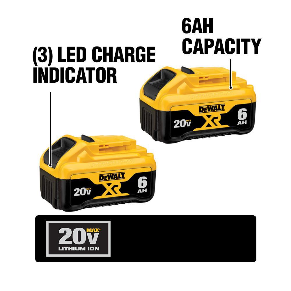 For DeWalt 20V 20 Volt Max XR 5.0AH Lithium Ion Battery Pack DCB200-2 DCB206-2
