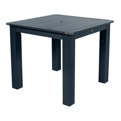 Federal Blue Square Plastic Outdoor Dining Table
