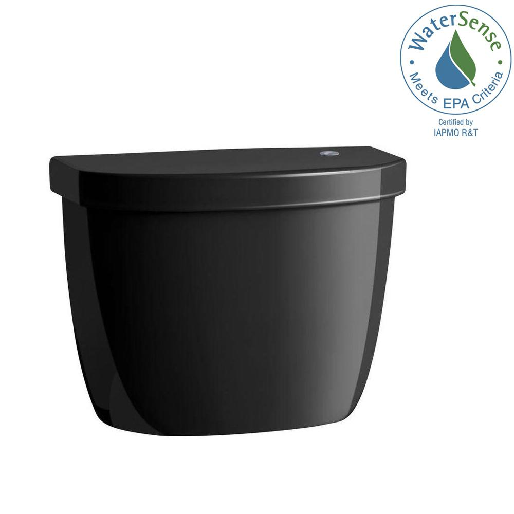 Cimarron Touchless 1.28 GPF Single Flush Toilet Tank Only in Black