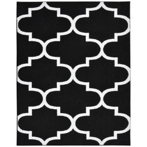black and white rug patterns. garland rug large quatrefoil blackwhite 8 ft x 10 area rugll240a09612053 the home depot black and white patterns