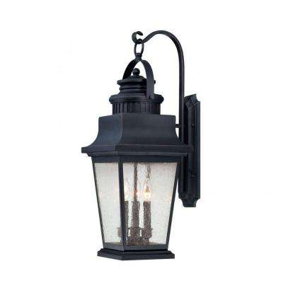 Tony 3-Light Slate Outdoor Wall Mount Lantern