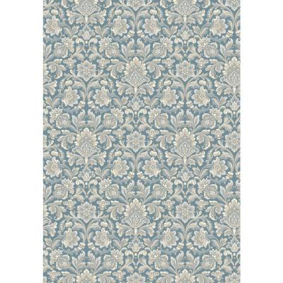 Foglavik Slate Damask Wallpaper Sample