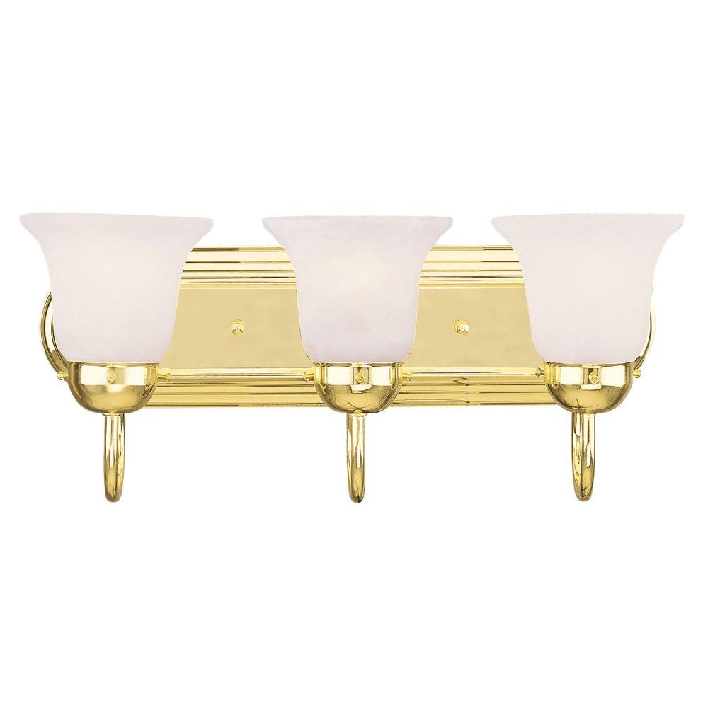 Livex Lighting Light Polished Brass Bath Light The Home - Polished brass bathroom lighting