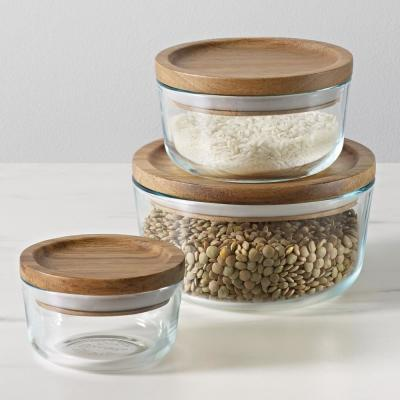 Simply Store 6-Piece Storage Set with Wood Lids