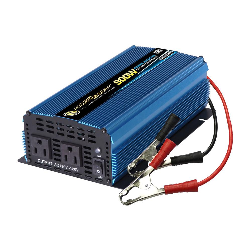 Power Bright 12 Volt DC to AC 900-Watt Power Inverter