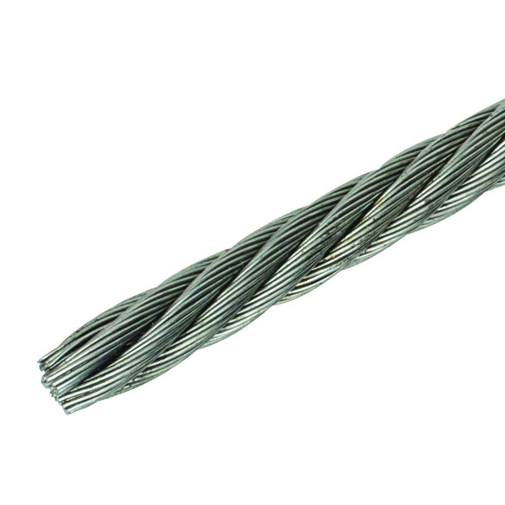 1/4 in. x 250 ft. Fiber Core Wire Rope
