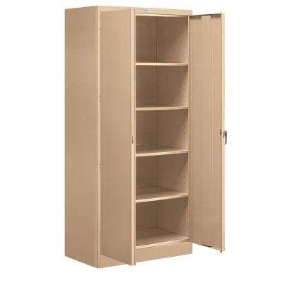 36 in. W x 78 in. H x 18 in. D Standard Storage Cabinet Unassembled in Tan
