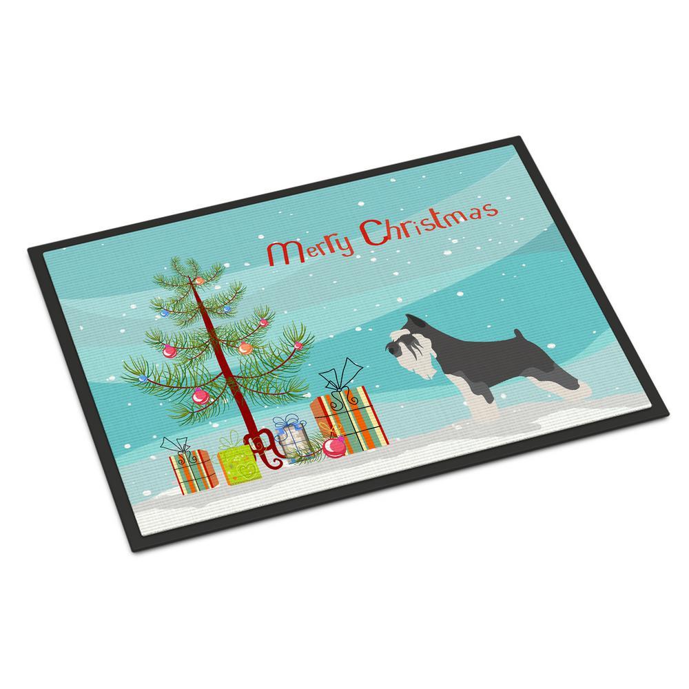 24 in. x 36 in. Indoor/Outdoor Miniature Schnauzer Christmas Door Mat