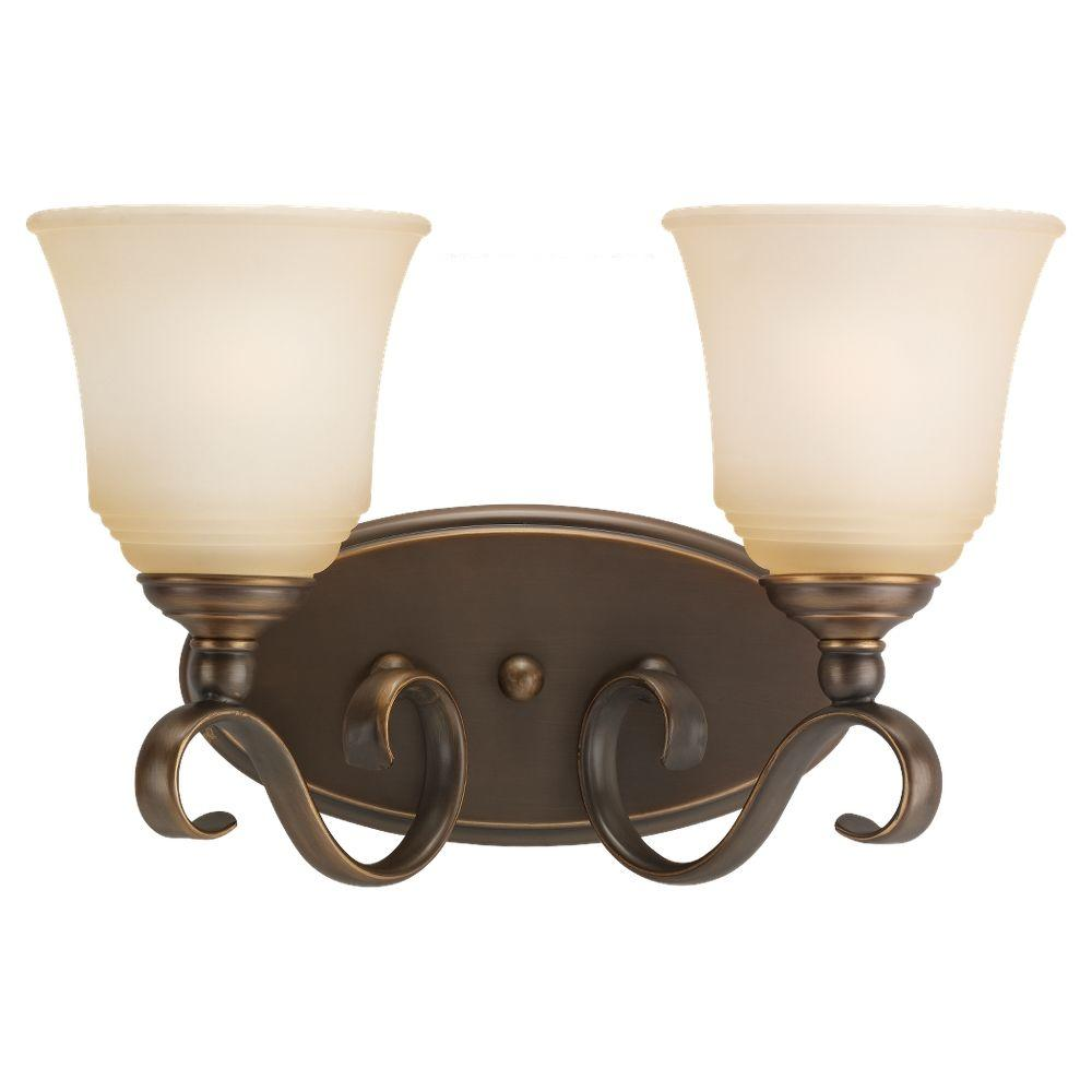 Parkview 2-Light Russet Bronze Vanity Fixture