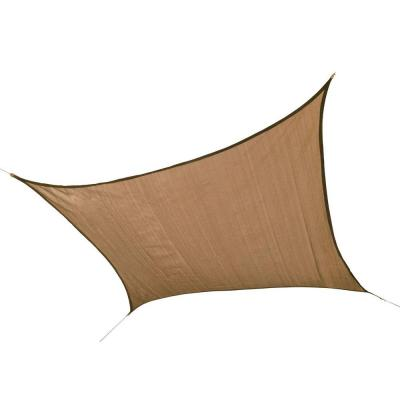 12 ft. W x 12 ft. L Square Sun Shade Sail in Sand (Poles Not Included) with Long-Life, Breathable, UV-Stabilized Fabric